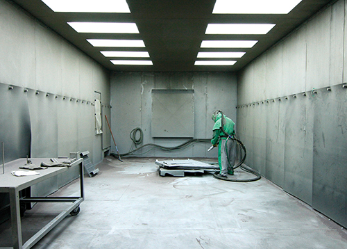 Blast room - Powder Coating Services